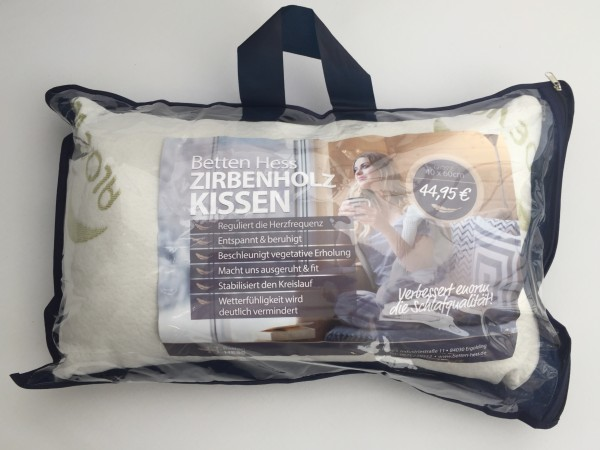 Betten Hess Zirbenholz Kissesn 40x60cm
